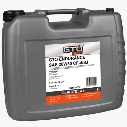 GTO Endurance 15W40 CF-4/SJ i GTO Endurance 20W50 CF-4/SJ